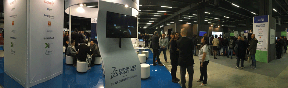 CADLAND. Lo stand Dassault Systèmes al Technology Hub