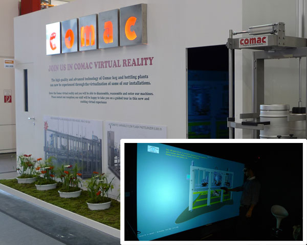 Lo stand Comac al Drinktech